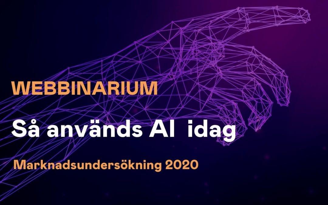 Webbinarium: Så används artificiell intelligens idag – en marknadsundersökning