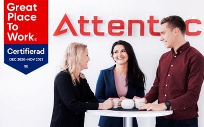 Attentec är återigen Great Place to Work-certifierade!