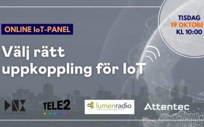 Online IoT-panel: Välj rätt uppkoppling för IoT